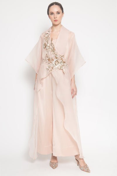 Papilion High Low Kimono in Nude