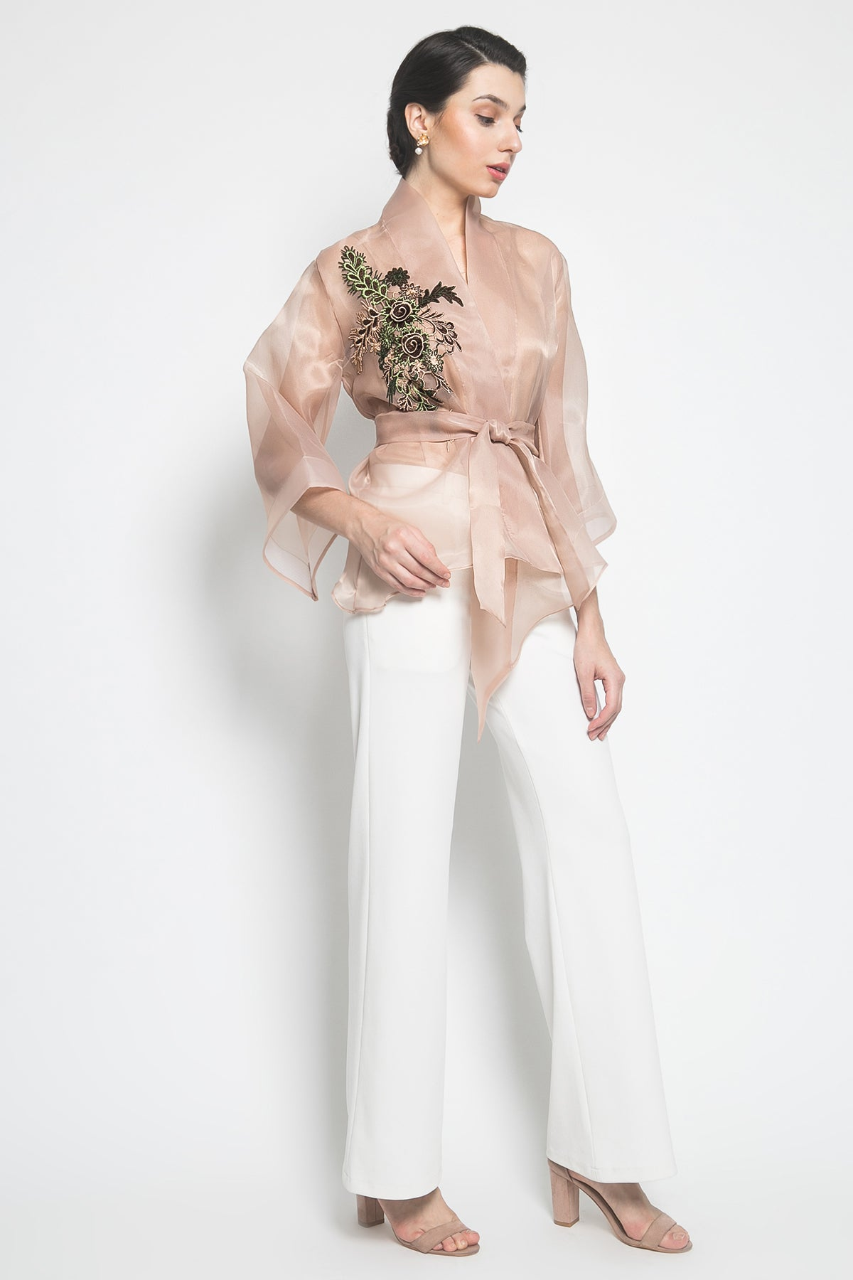 JA Collection Amber Kimono Outer in Nude