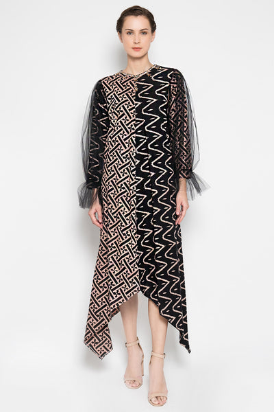 Abinaya Dress in Black Nude