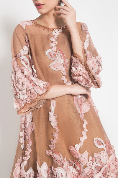 Candy Pop Dress in Peach