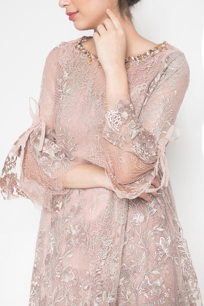 Lurline Dress in Dusty Pink
