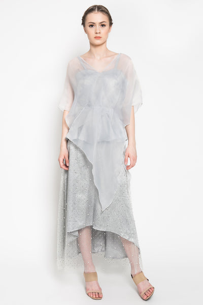 Aubrette Dress in Grey