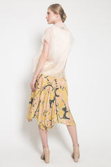 Janice Top in Cream and Orva Skirt in Lime Yellow Set