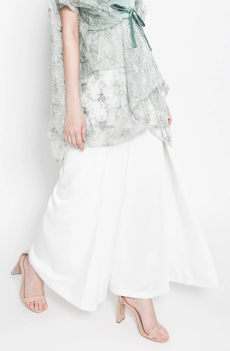 Ashka Long Culottes in White
