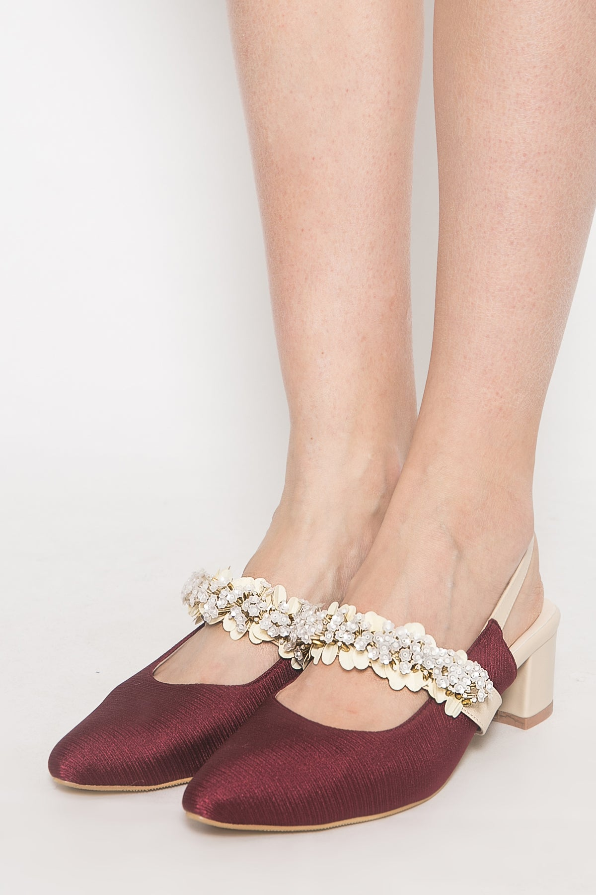 Giselle Shoes in Maroon