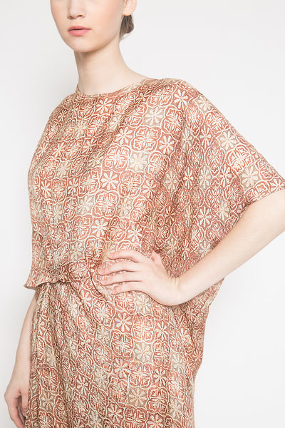Laurent Beads Dress in Bronze