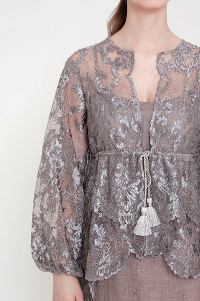 Gahyaka Dress in Lilac Taupe