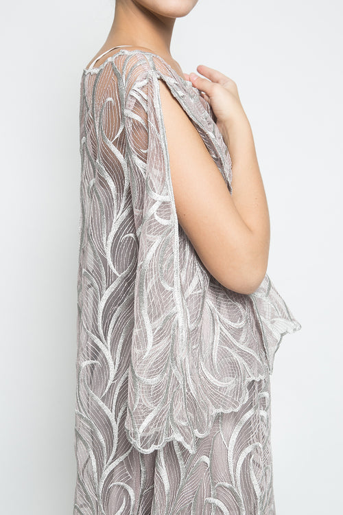 KÉNATA by Keisya Natalia Celine Dress in Silver