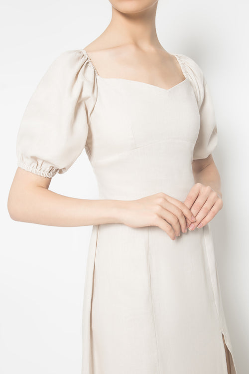Aurora Dress in Beige