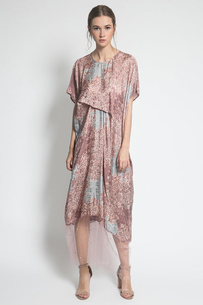 Kayen Laurent Beads Dress in Dusty Parang