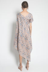 Kayen Symetry Beads Dress in Blue Cream