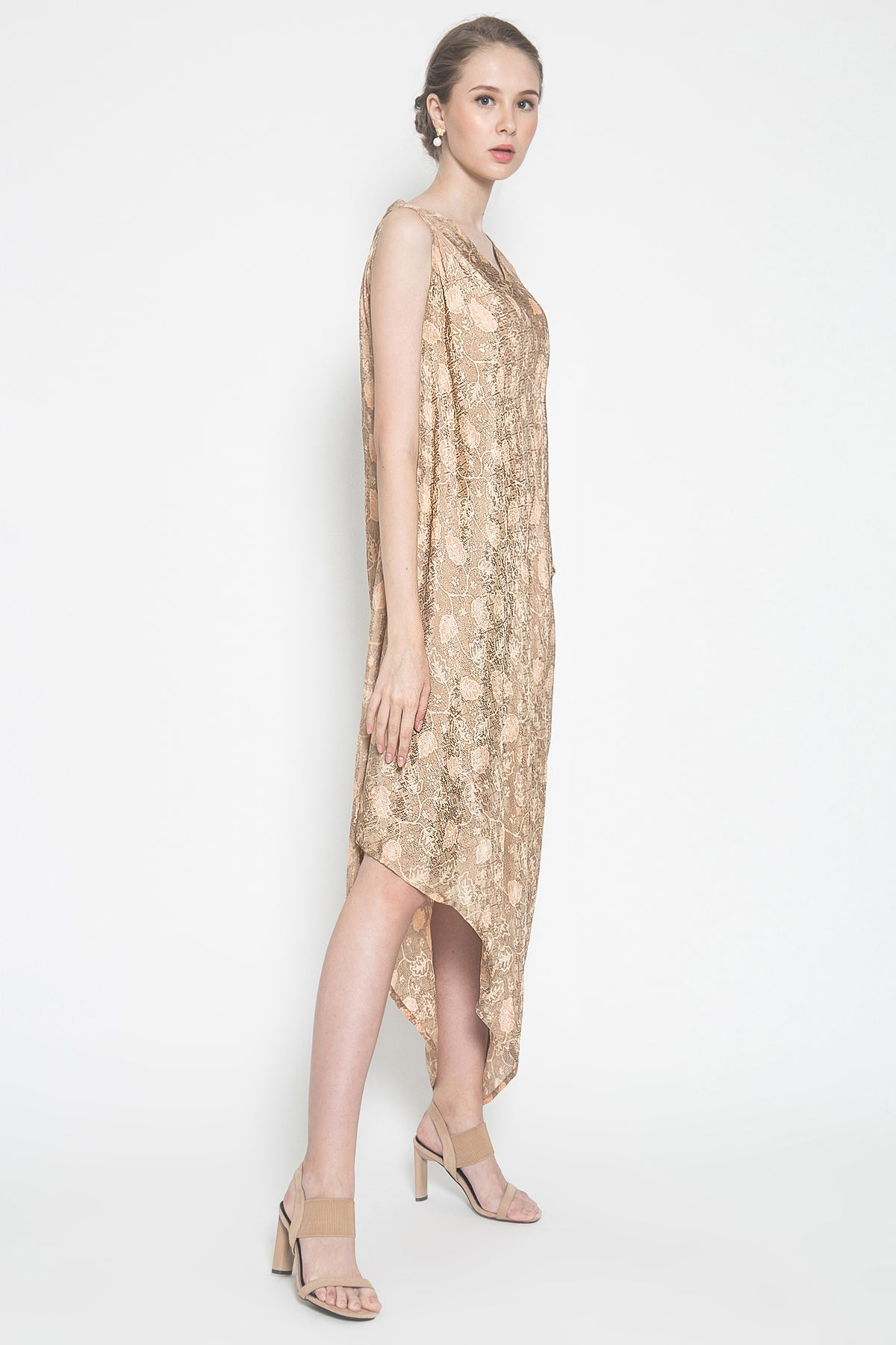 Kayen Symetry Sleeveless Dress in Bronze