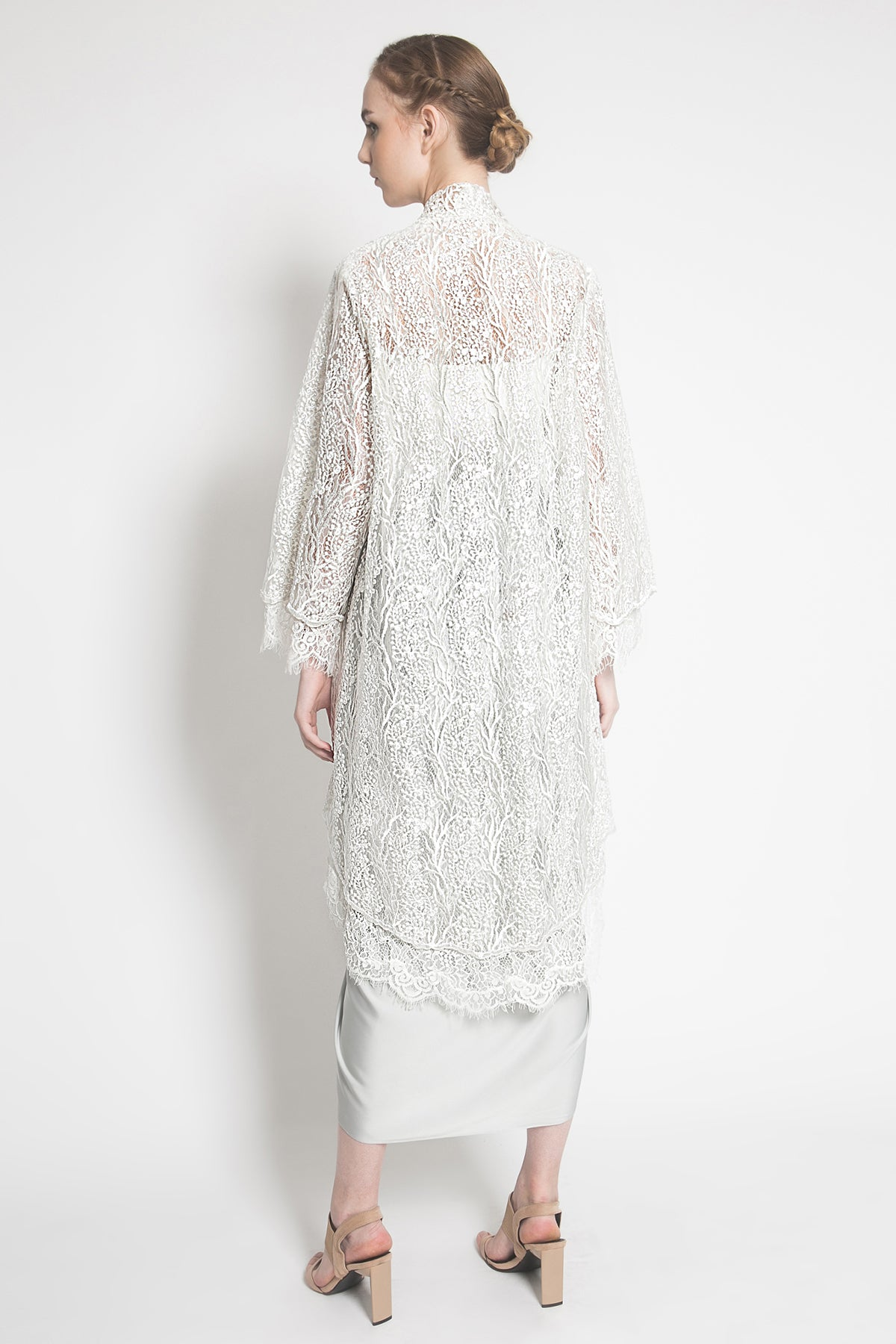Nala Double Lace Outer in White