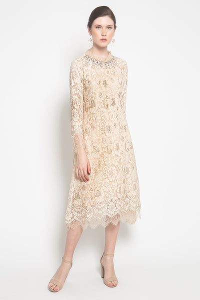 Guinevere Dress in Creme