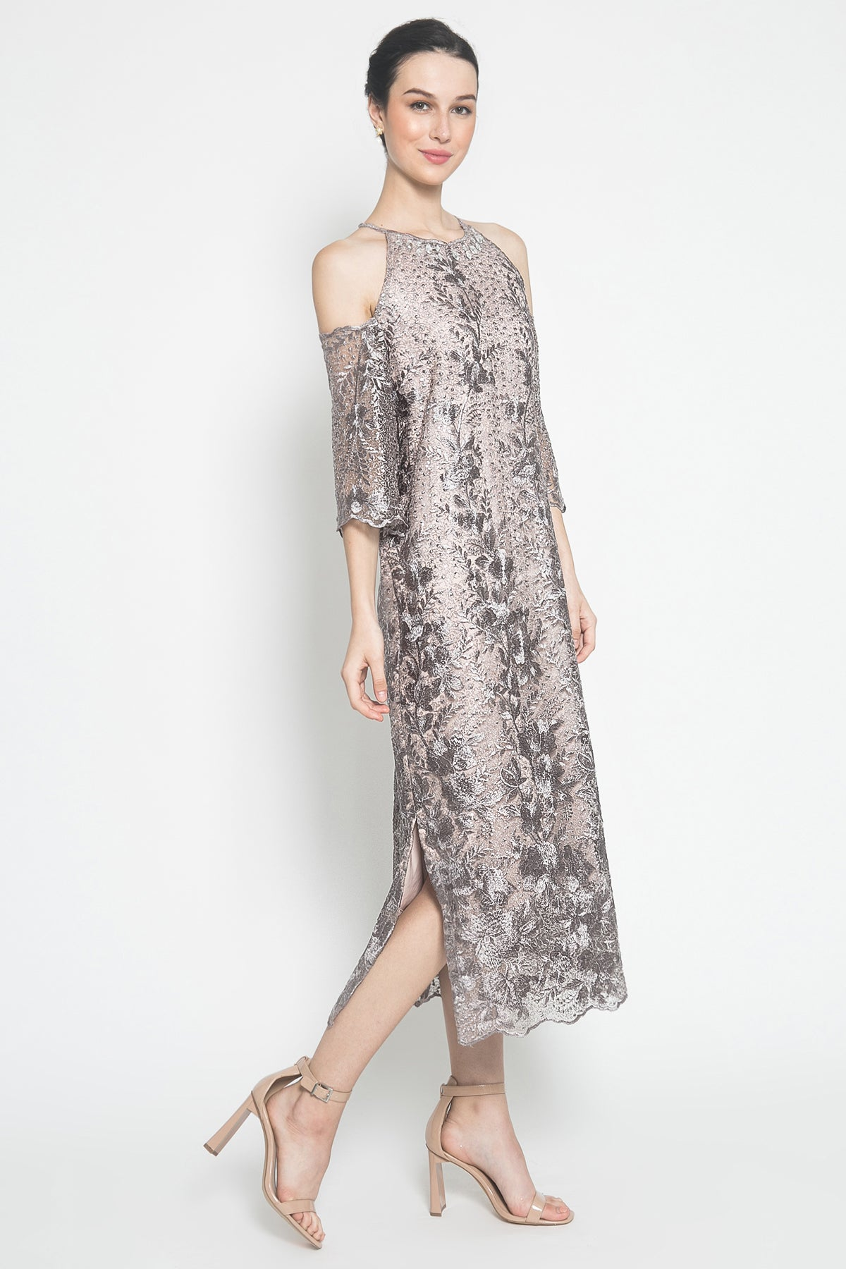 Esmé Dress in Lilac Taupe