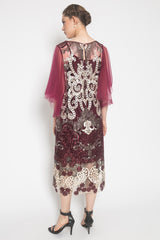 Vin Dress in Maroon