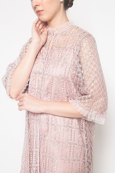 Shasi Outer Dress in Baby Blush Pink