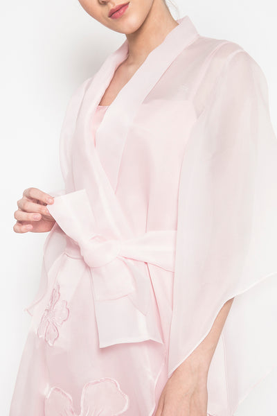 Asymmetric Kimono Dress in Pink