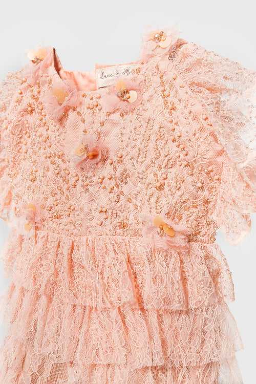 Arabelle Playsuit in Pale Peach
