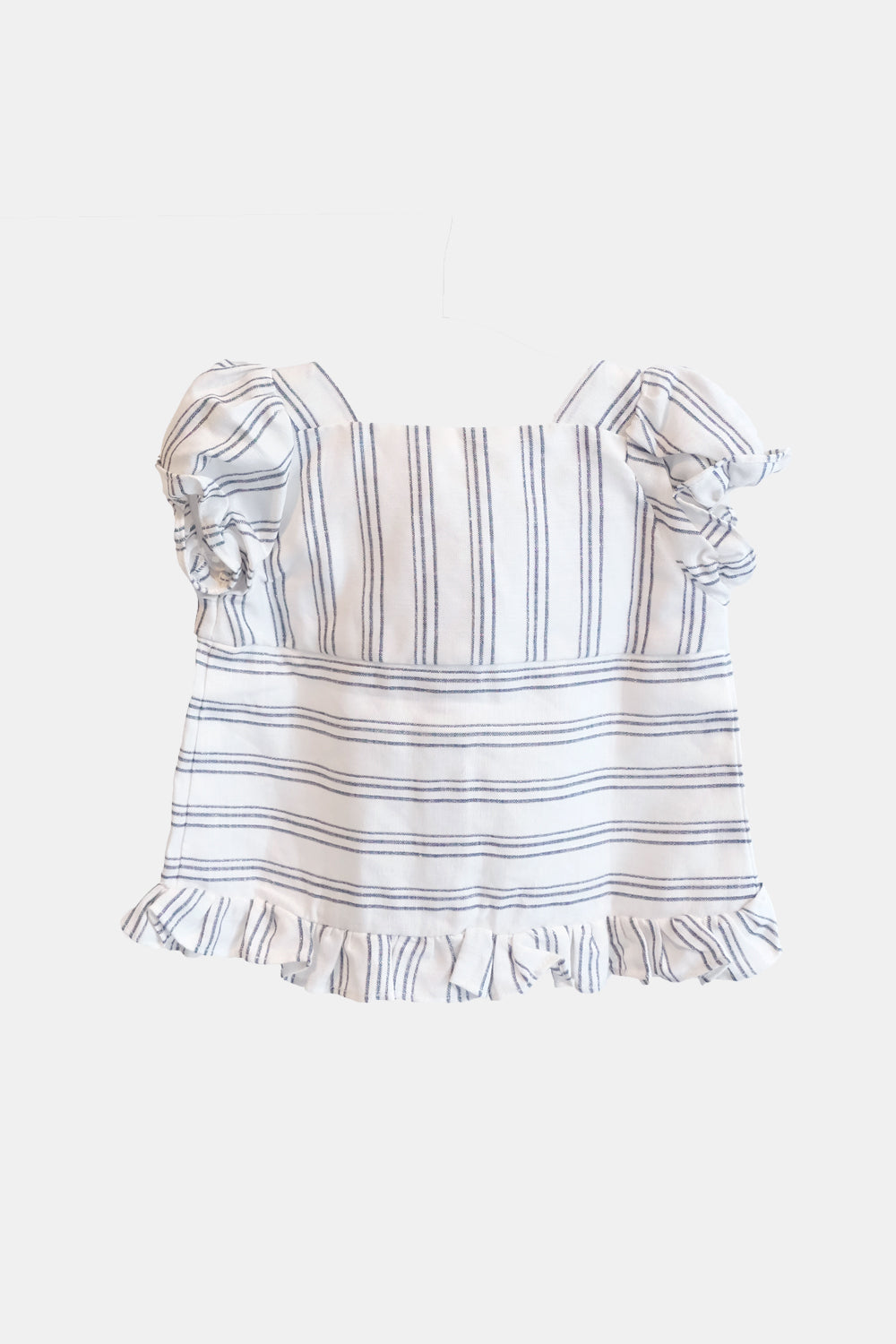 Bali Top in White Blue