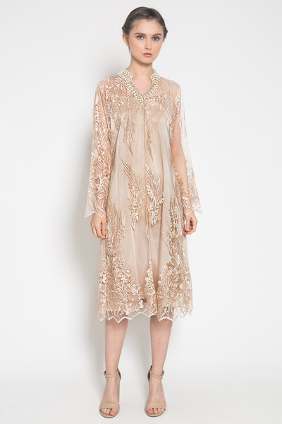 Elisheva Outer Dress in Soft Nude Peach
