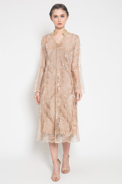 Zoe Outer Dress in Soft Gold Bronze