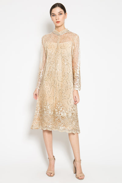 Jaleesa Outer Dress in Soft Gold