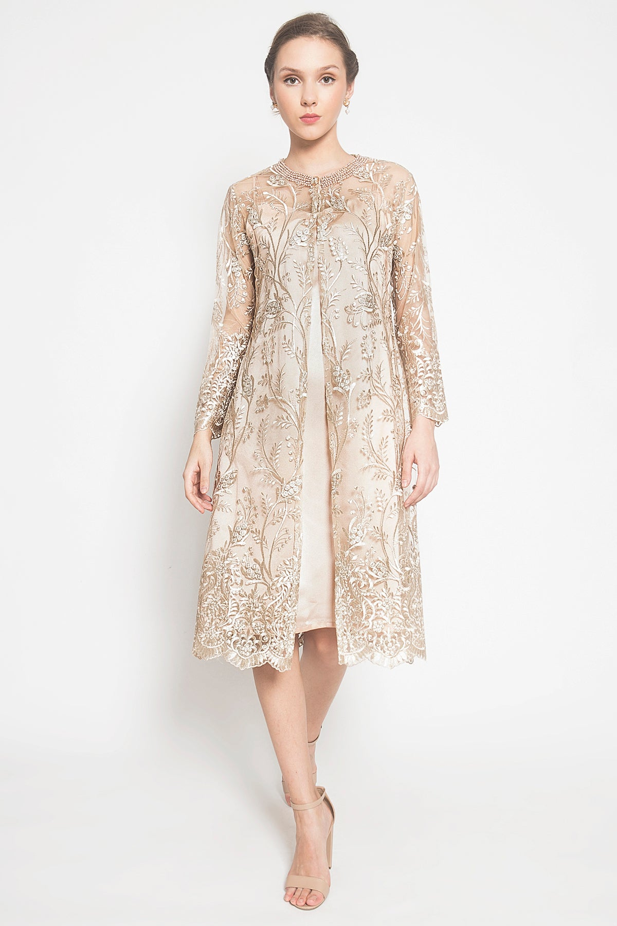 Arelle Dress in Soft Gold