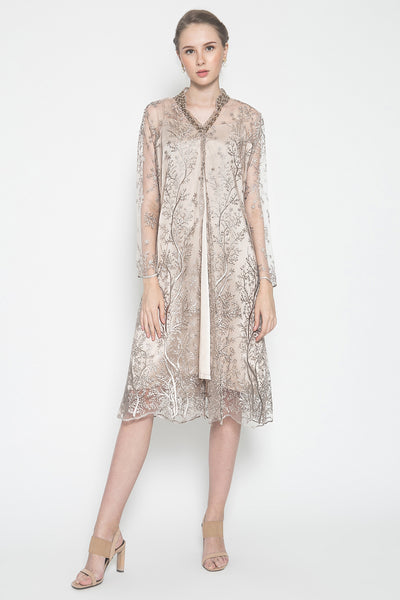 MW Emanuelle Dress in Soft Rose Gold