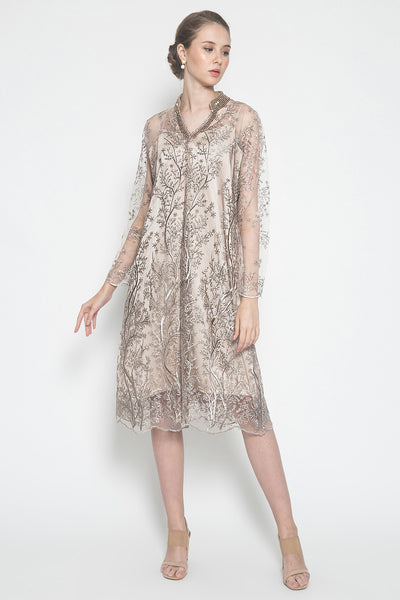 MW Eleora Dress in Soft Rose Gold