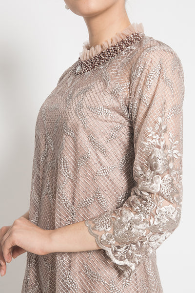 Erzsebet Dress in Soft Rose Gold