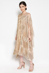 Drew Ruffled Tunic in Champagne