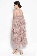 Drew Ruffled Tunic in Dusty Rose
