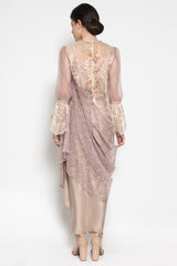 Penelope Draped Tunic in Rose Beige