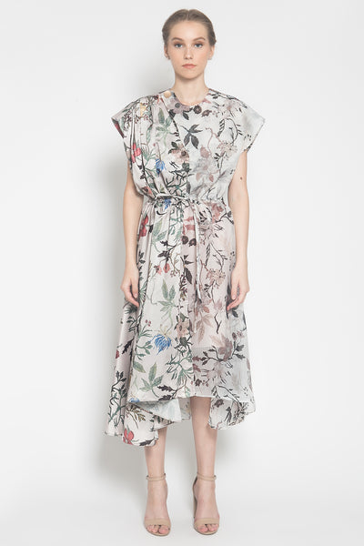 Sora Gathered-Effect Dress in Blush Floral