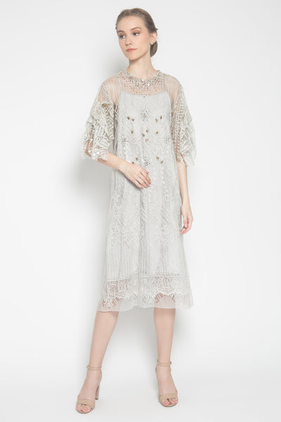 Willow Draped Tunic in Pale Grey