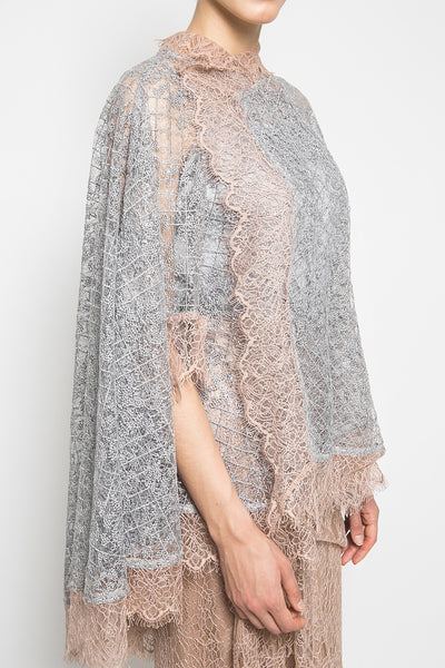 MYVB Atelier Zoë Sequin Cape-Effect in Grey