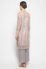 MYVB Atelier Camille Maxi Tunic in Ash Rose