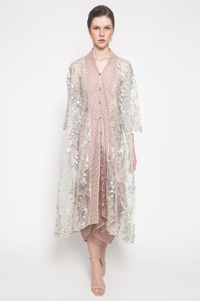 Reené Embroidered Tunic in Powder Grey