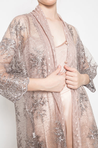 Reené Embroidered Tunic in Smokey Rose
