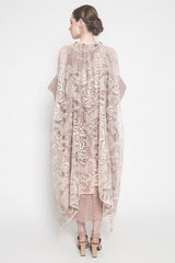 Seraphima Maxi Dress in Nude Beige