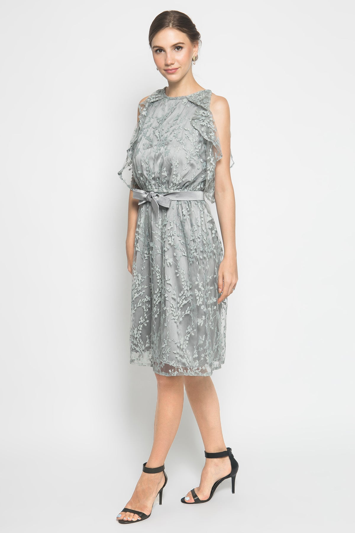 Noia Dress in Dusty Blue