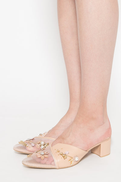 Cyrille Mules in Beige