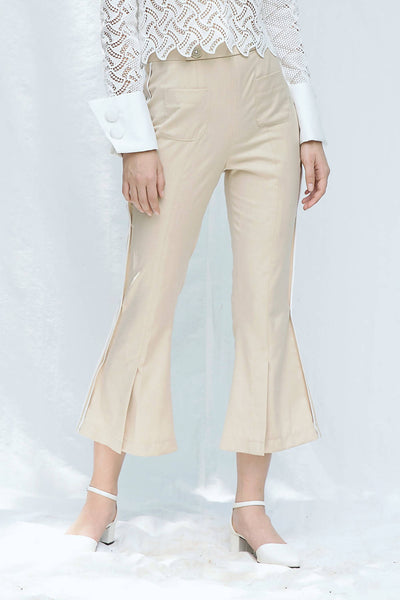 Flare Pants With Slits