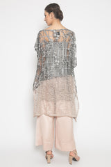 Alana Asymmetric Cape Tunic in Greyish Gold