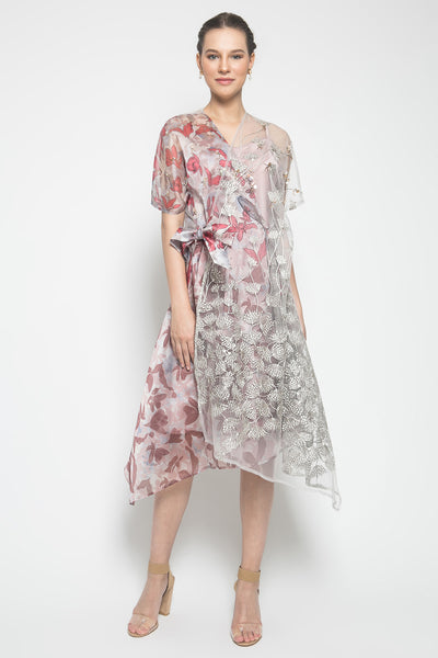 MYVB Atelier Erilyn Wrap Dress in Sandy Pink