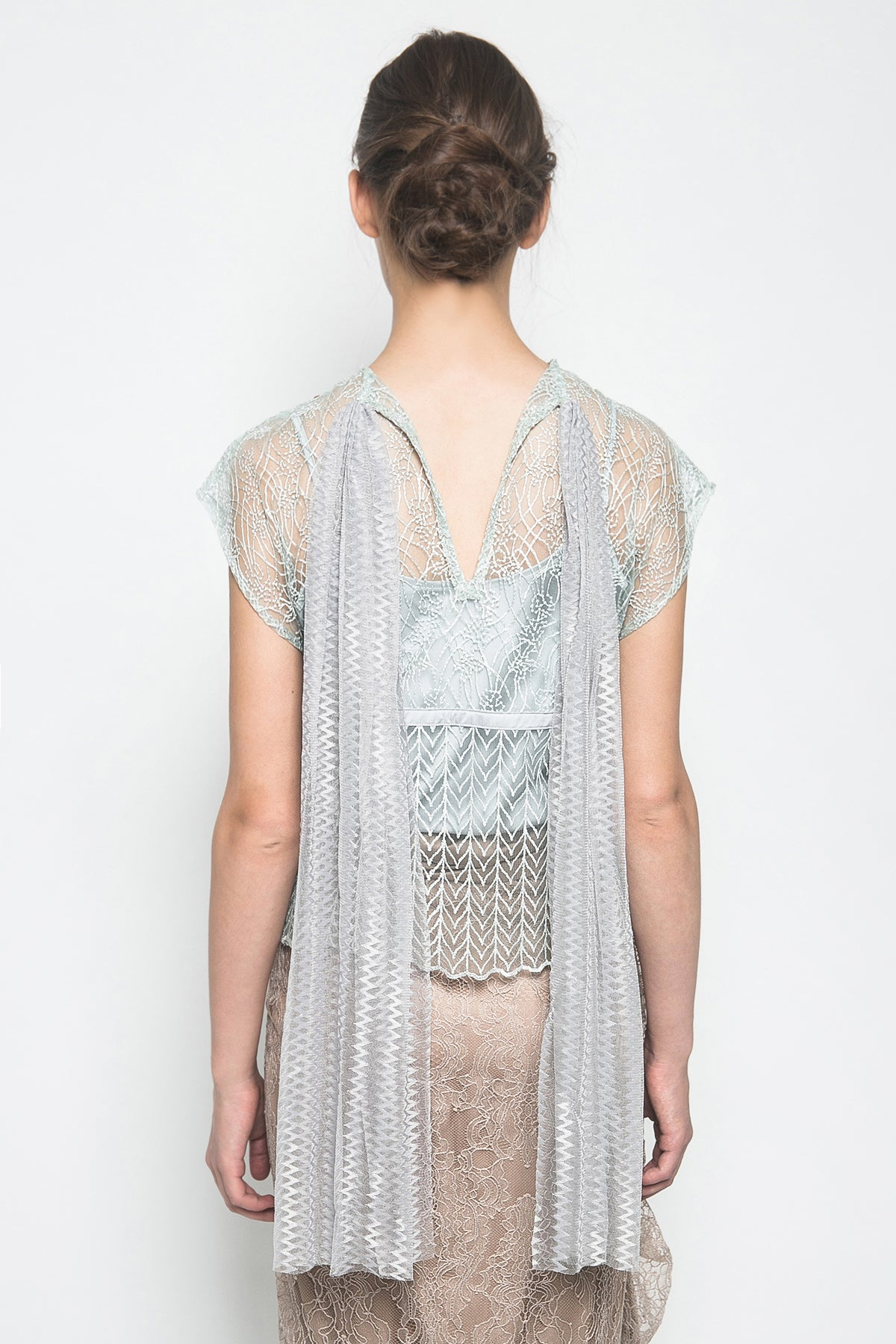 MYVB Atelier Frances Beads Top In Mint