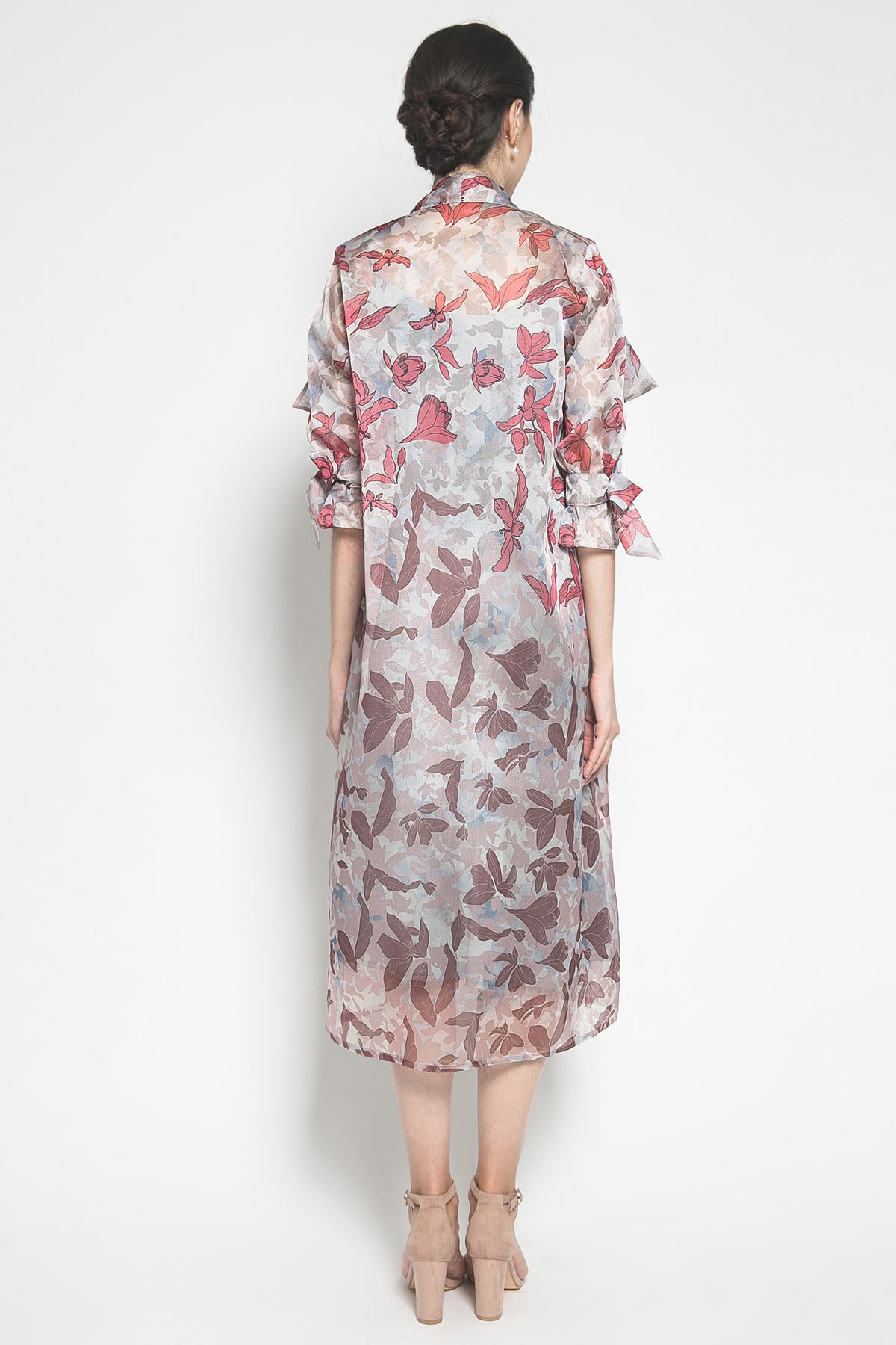 MYVB Atelier Katniss Printed Organza Outer Dress in Spring