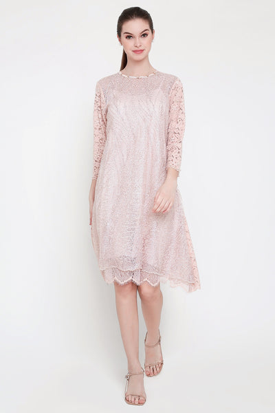Rosie Dress in Champagne Pink