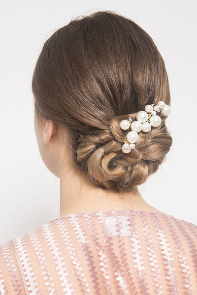 Mix Pearl Hairpin in Pearl White